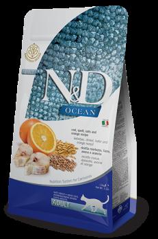 Farmina N&D OCEAN для кошек треска, спельта, овес, апельcин